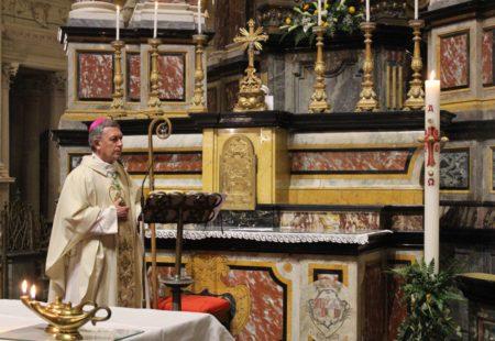Omelia del vescovo Egidio per la Messa della sera del giorno di Pasqua 2020